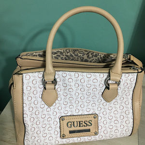 Guess Satchel Purse White/Beige
